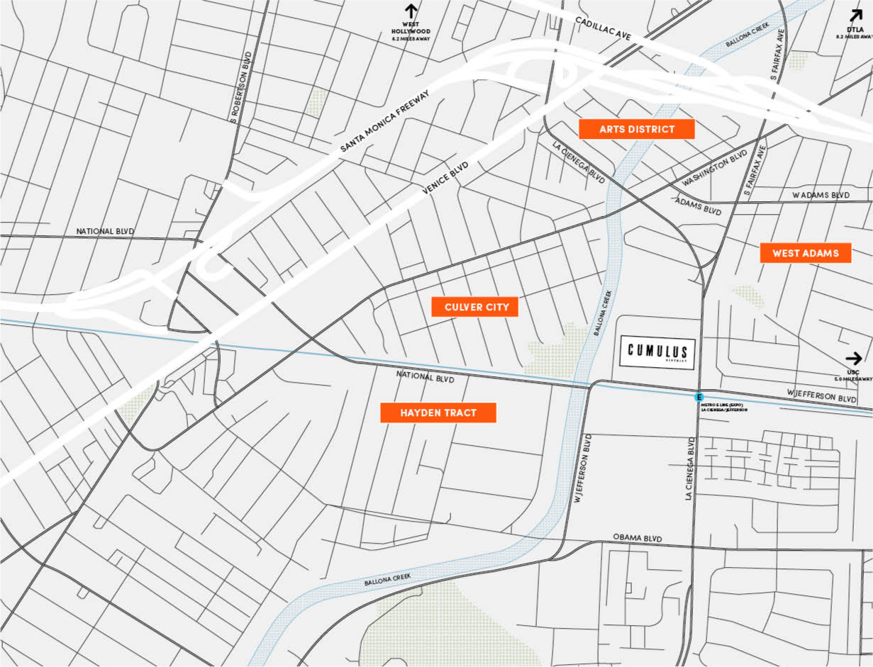 Cumulus District neighborhood map